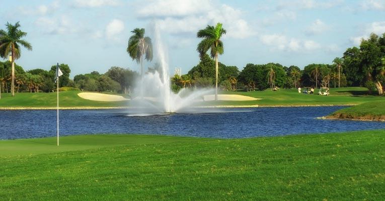 Riego de campos de golf con agua con ozono