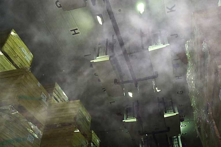 almacenamiento y conservación de alimentos en cámaras frigoríficas con ozono