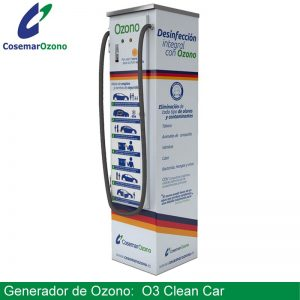 desinfeccion vehiculos generador ozono o3 clean car