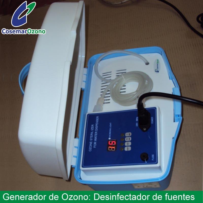 desinfectador de fuentes, generador de ozono para desinfectar fuentes de agua
