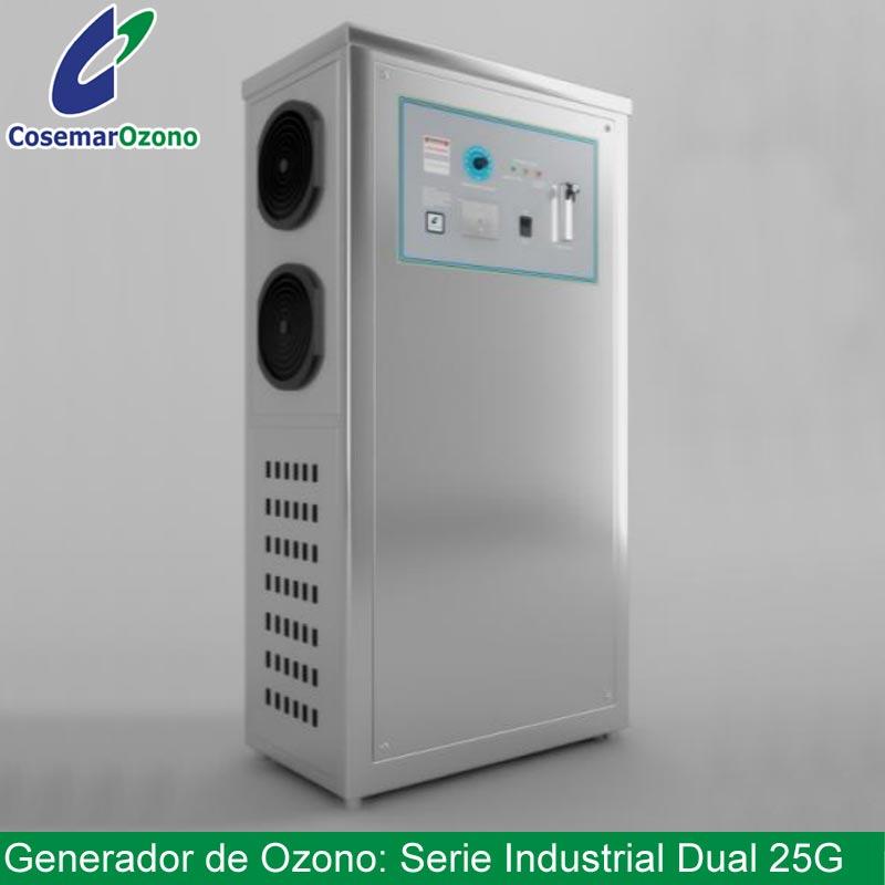 generador ozono serie industrial dual 25g