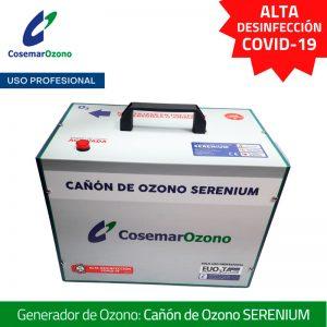Cañón de Ozono Serenium, uso profesional, alta desinfección COVID-19