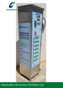 desinfeccion vehiculos generador ozono o3 clean car