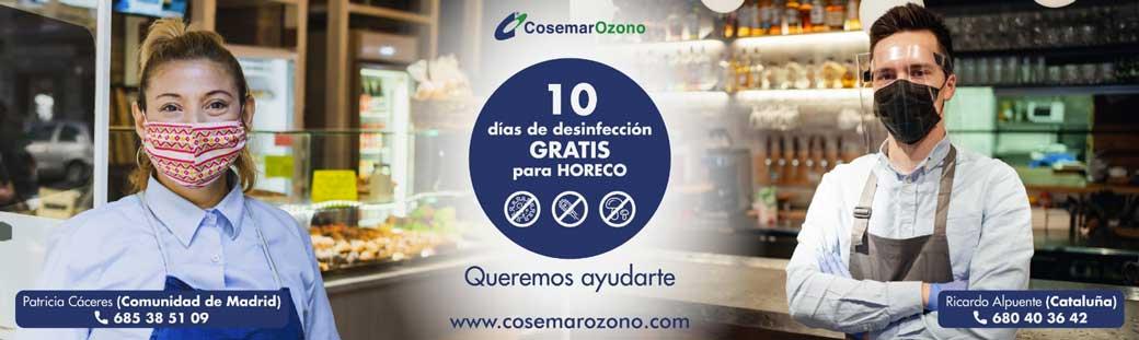 Promoción Desinfección Hostelería - Campaña 10 días GRATIS, solo hostelería madrileña