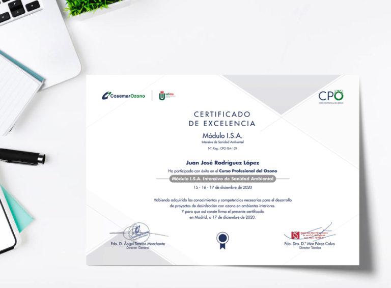 Diploma curso profesional del ozono